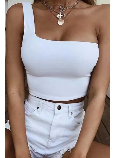 Madmext Bluz Beyaz